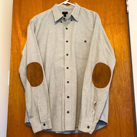 Pristine Felted J Crew Dress Shirt w/ Elbow Pads